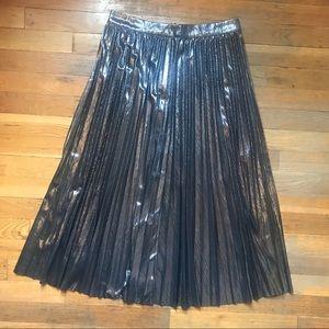 Lulu's Silver Pencil Skirt
